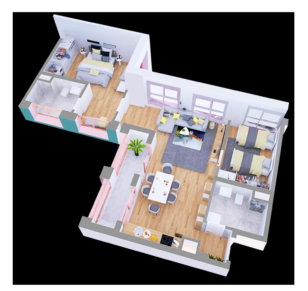 Apartament 2+1 në shitje në Tiranë - Mangalem 21 Shkalla 1 Kati 2