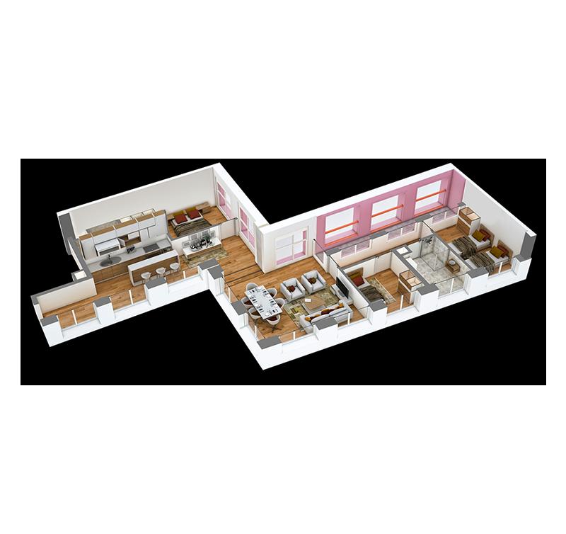 Apartament 3+1 në shitje në Tiranë - Mangalem 21 Shkalla 2 Kati 3