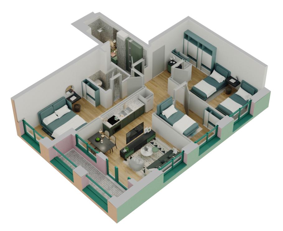 Apartament 3+1 në shitje në Tiranë - Mangalem 21 Shkalla 16 Kati 4