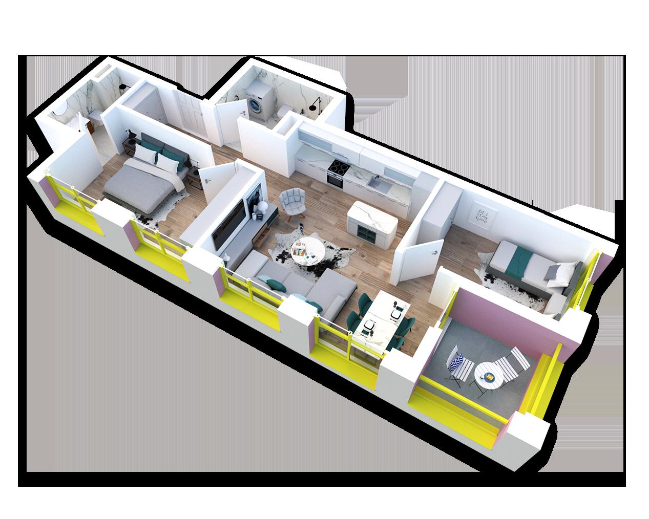 Apartament 2+1 në shitje në Tiranë - Mangalem 21 Shkalla 20 Kati 2