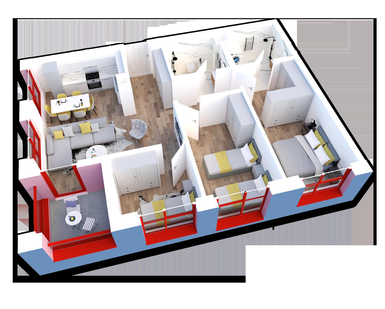 Apartament 3+1 në shitje në Tiranë - Mangalem 21 Shkalla 20 Kati 7