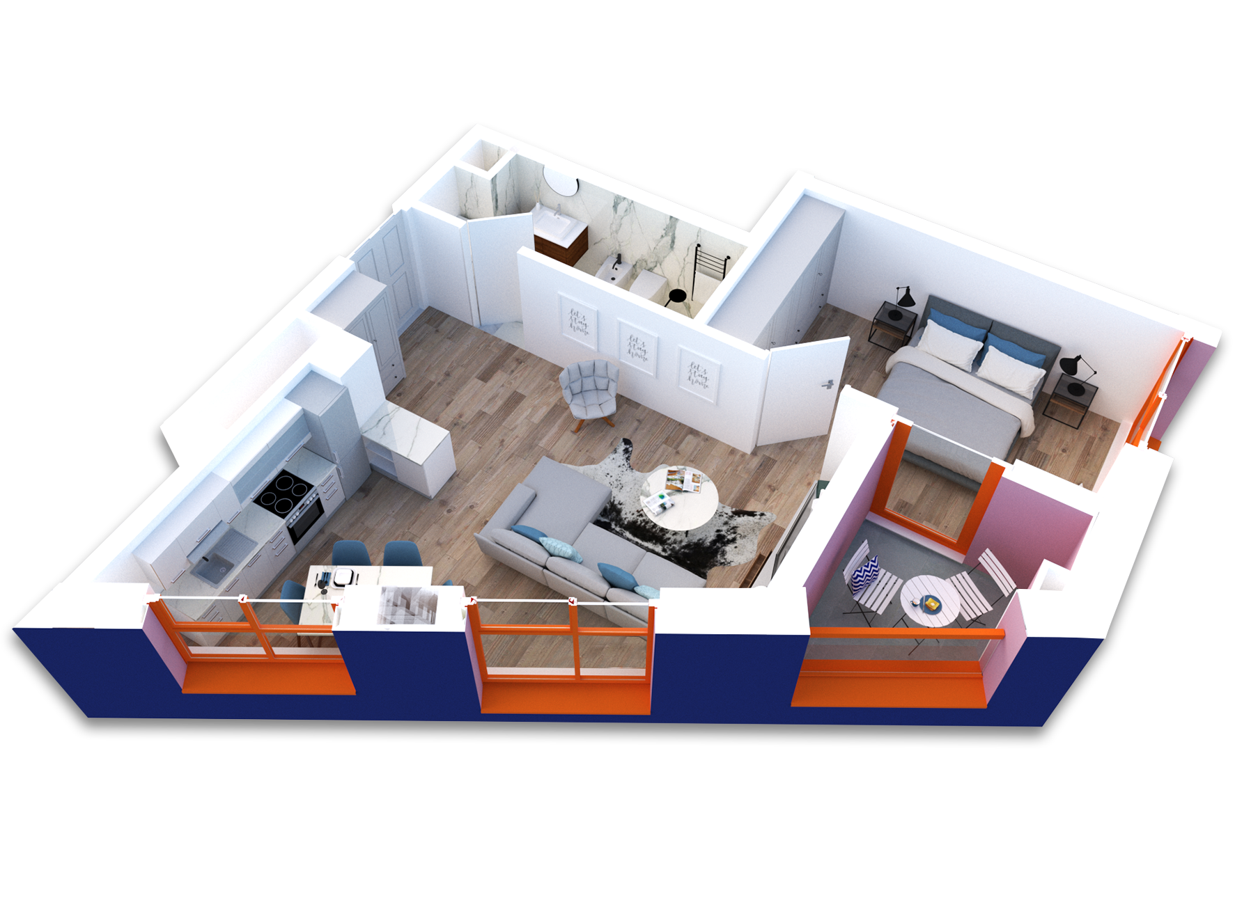 Apartament 1+1 në shitje në Tiranë - Mangalem 21 Shkalla 21 Kati 4
