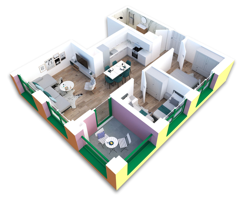 Apartament 2+1 në shitje në Tiranë - Mangalem 21 Shkalla 23 Kati 5