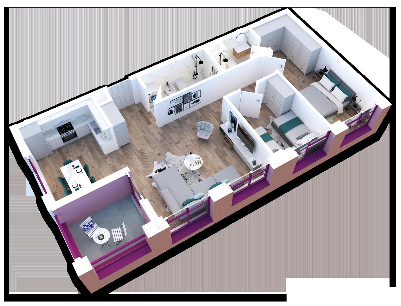 Apartament 2+1 në shitje në Tiranë - Mangalem 21 Shkalla 23 Kati 7