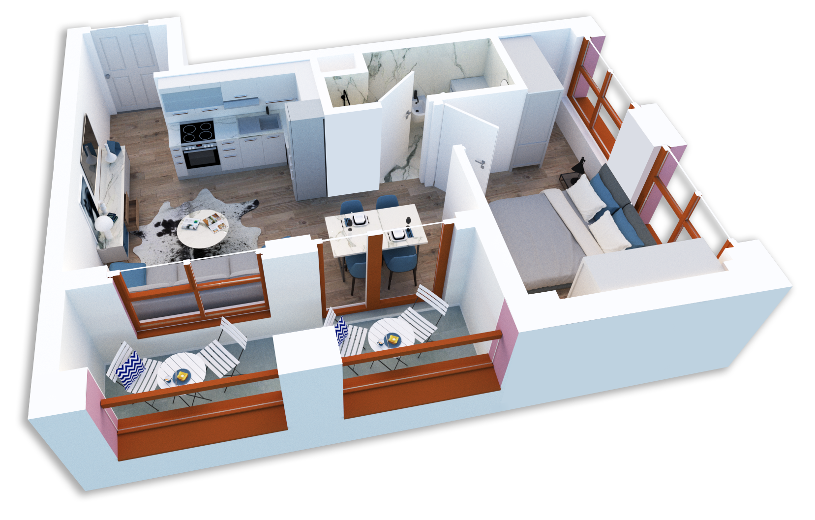 Apartament 1+1 në shitje në Tiranë - Mangalem 21 Shkalla 25 Kati 5