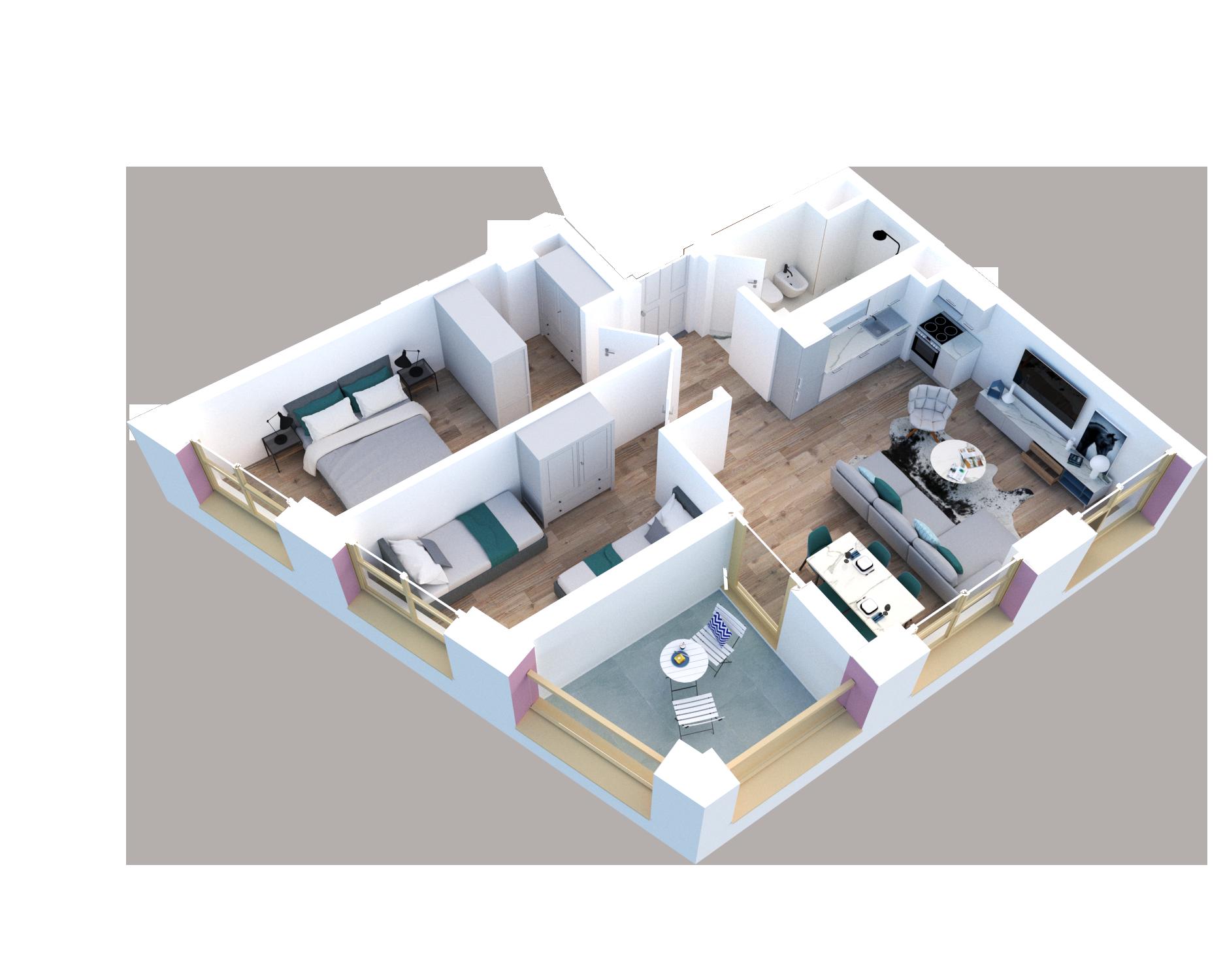 Apartament 2+1 në shitje në Tiranë - Mangalem 21 Shkalla 28 Kati 2