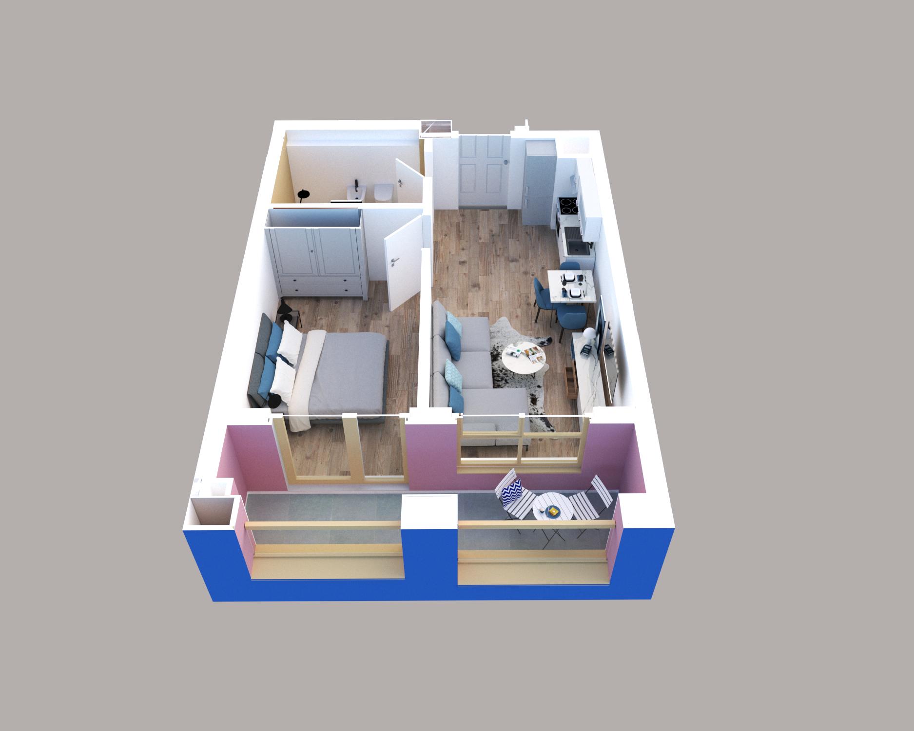 Apartament 1+1 në shitje në Tiranë - Mangalem 21 Shkalla 28 Kati 4
