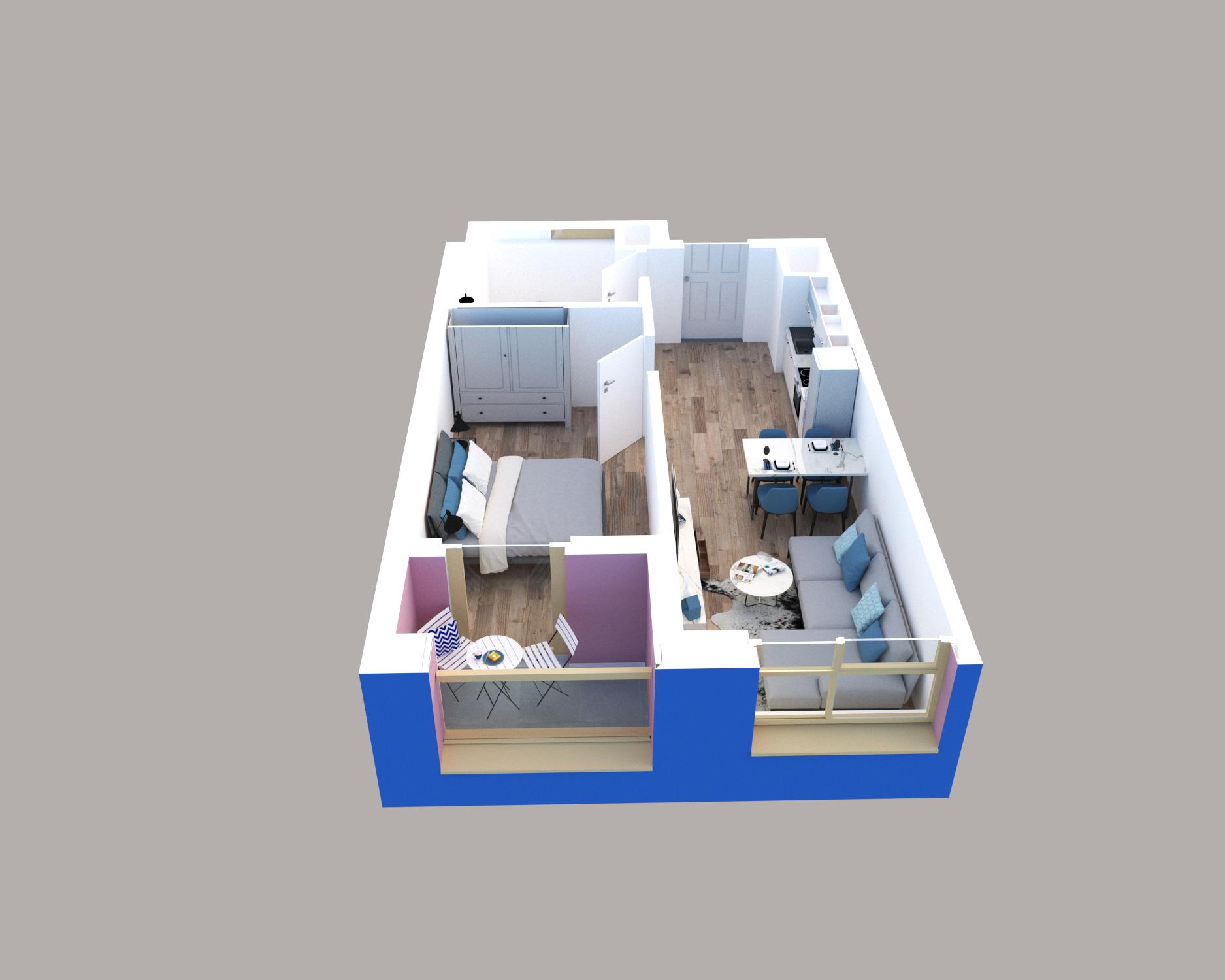 Apartament 1+1 në shitje në Tiranë - Mangalem 21 Shkalla 28 Kati 6