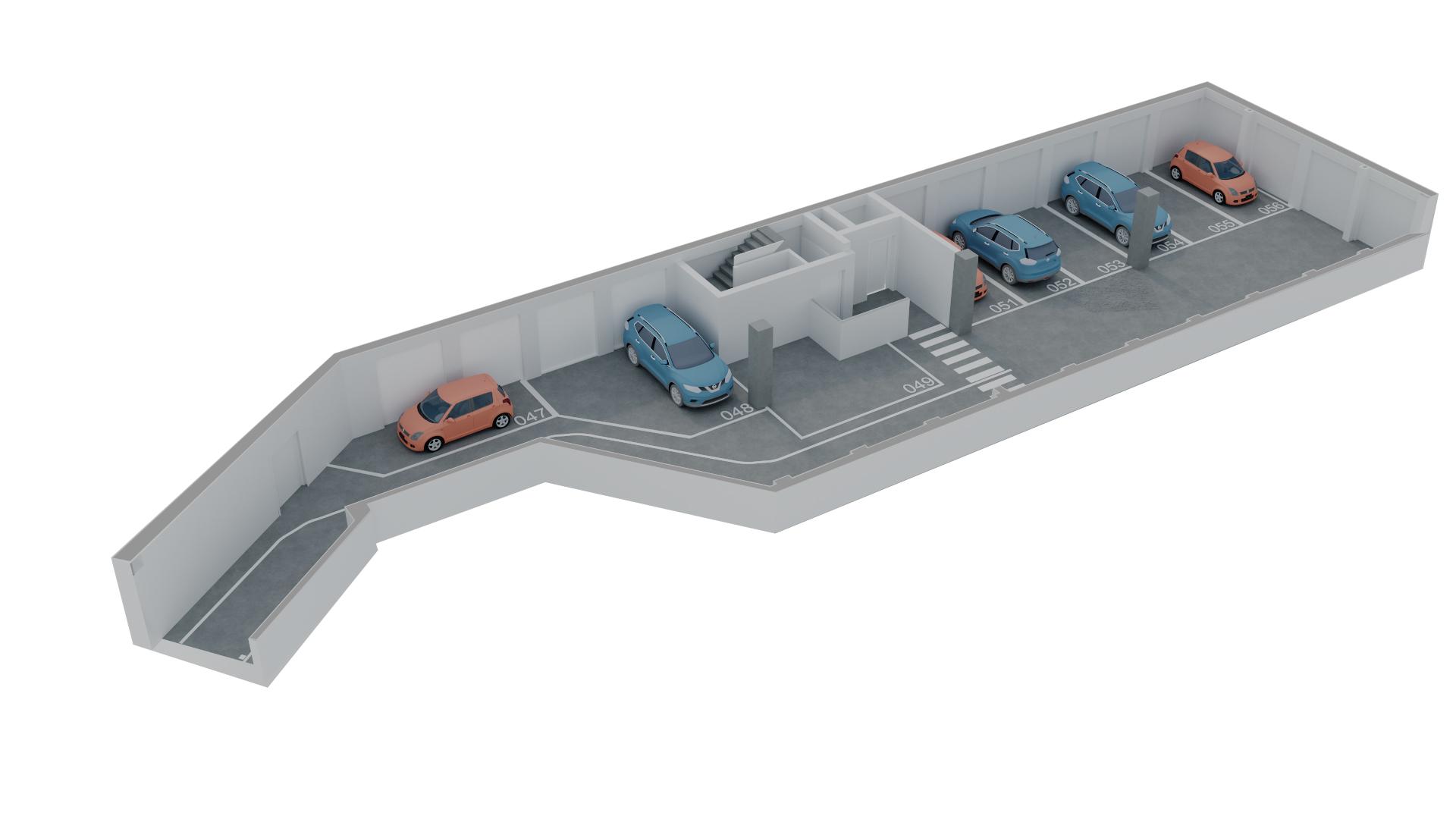 Parkim në shitje në Tiranë - Mangalem 21 Shkalla 17 Kati 1