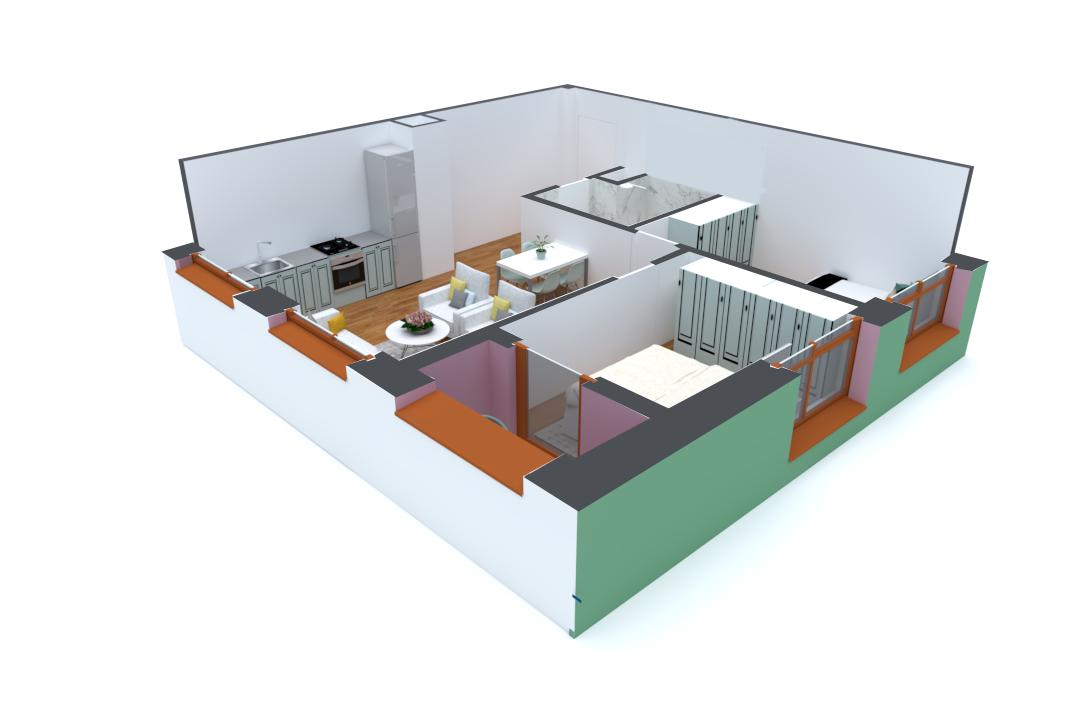 Apartament 2+1 në shitje në Tiranë - Mangalem 21 Shkalla 14 Kati 1