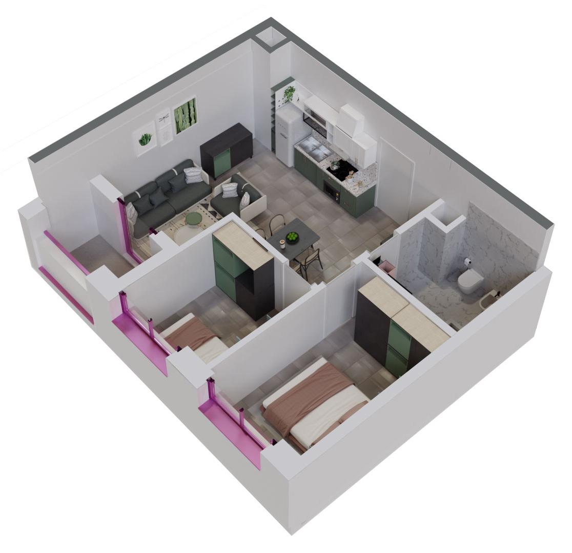 Apartament 2+1 në shitje në Tiranë - Mangalem 21 Shkalla 7 Kati 1