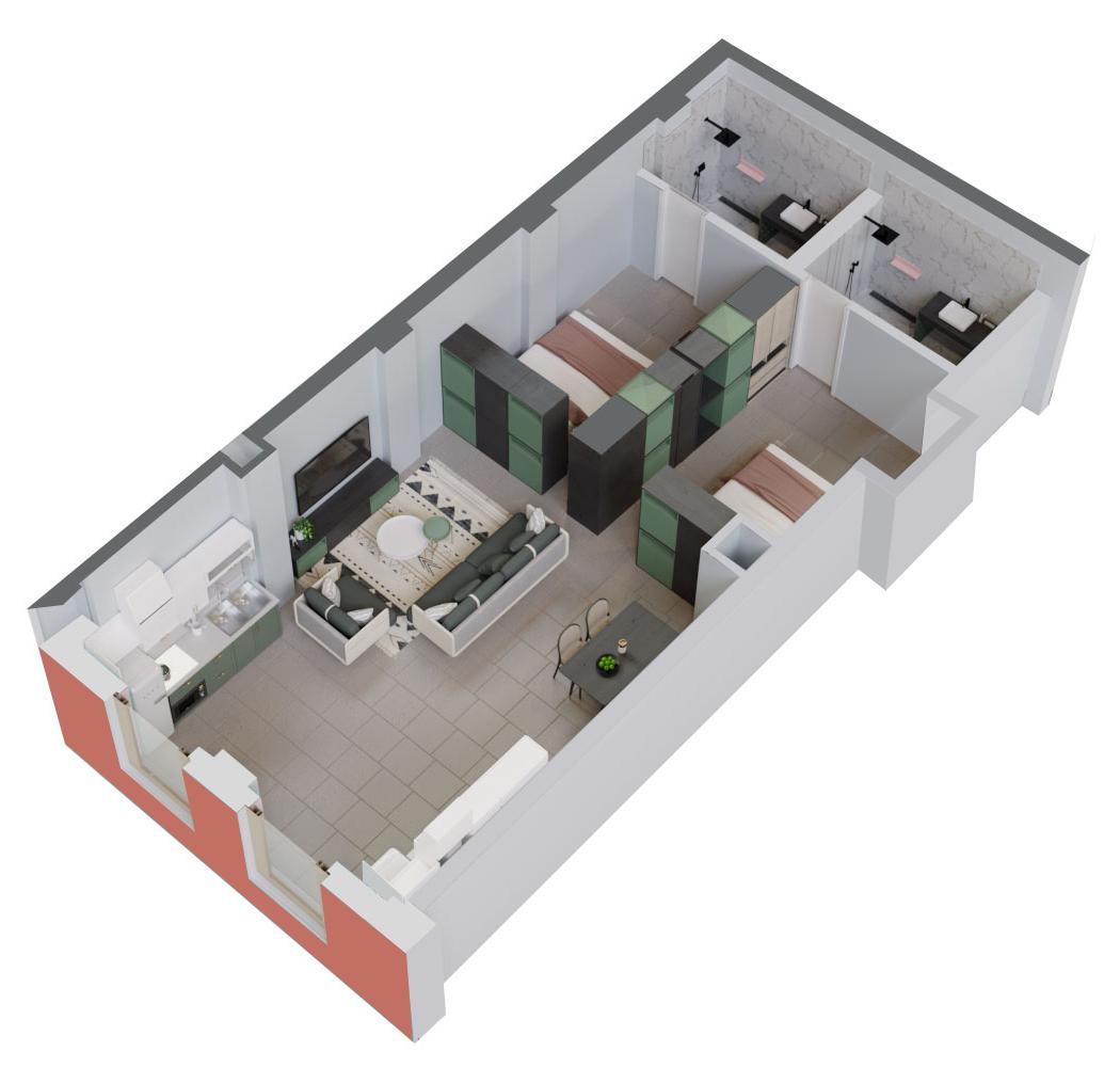 Apartament 2+1 në shitje në Tiranë - Mangalem 21 Shkalla 8 Kati 1