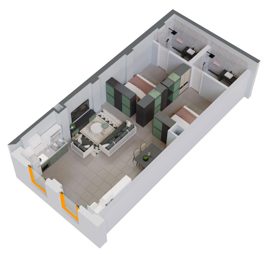 Apartament 2+1 në shitje në Tiranë - Mangalem 21 Shkalla 10 Kati 1