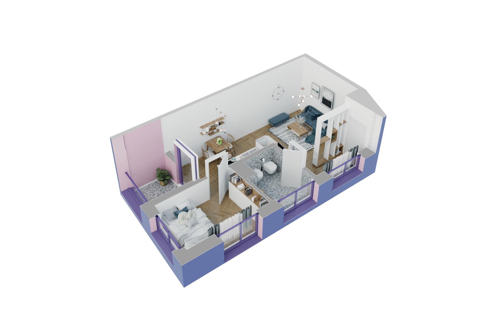 Apartament 1+1 në shitje në Tiranë - Mangalem 21 Shkalla 15 Kati 4